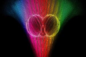brain halves in rainbow